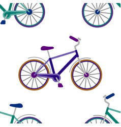 Bike embroidery seamless pattern vector
