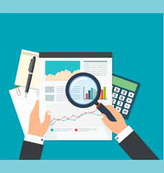 business analyst financial data analysis vector image