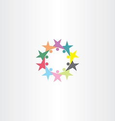 circle people team icon symbol sign vector image
