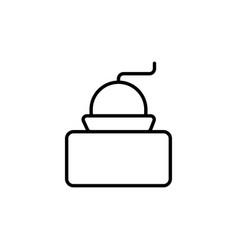 Cofee grinder icon vector