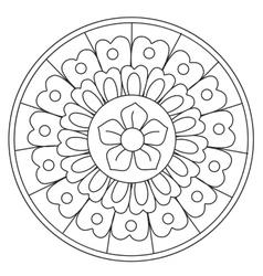 Coloring Beauty Floral Mandala vector image