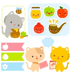 cute set for Rosh Hashanah vector image