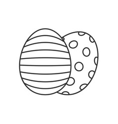 easter eggs line icon vector image vector image
