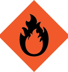 fire warning sign vector image