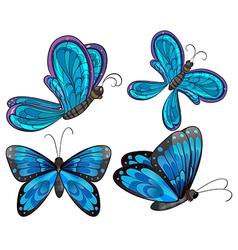 Four butterflies vector image vector image
