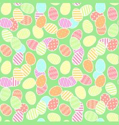 golden easter eggs pattern vector image vector image