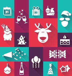 Happy-new-year-icons vector