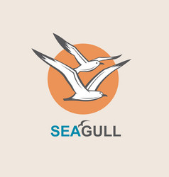 icon of seagull vector image vector image