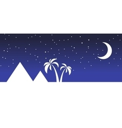 Landscape egypt night vector