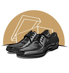 men shoes vector image vector image