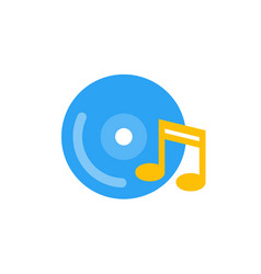 music icon flat style vector image