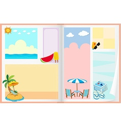Paper design with summer theme vector image