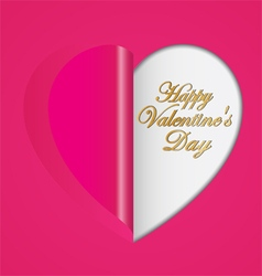 Pink paper hearts folding vector image vector image