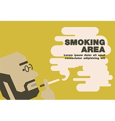Poster smoking area earth tone vector