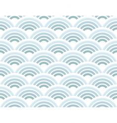 retro circles pattern vector image vector image