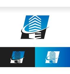Swoosh Modern Building Logo Icon vector image vector image