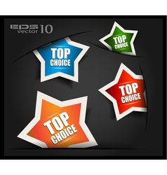 Top Choice Labels vector image vector image