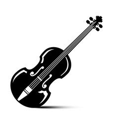 violin icon black musical instrument vector image