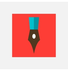 writing pen icon vector image