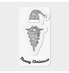 Accessories santa claus - hat and beard christmas vector
