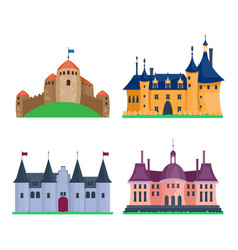 Cartoon castle architecture vector