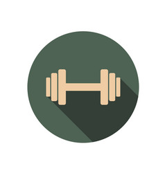 Dumbbell circle icon vector