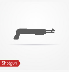 Shotgun silhouette icon vector