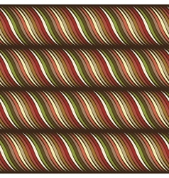 Seamless pattern with wavy stripes vector