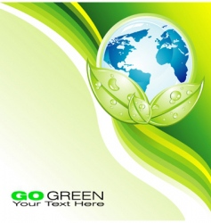 eco template vector image