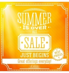 Summer is over but sale just begin banner for vector