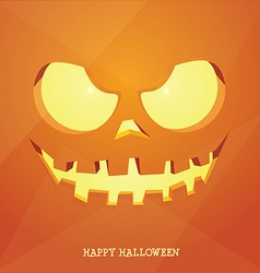Jacko lantern face background vector