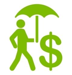 Umbrella icon from Business Bicolor Set vector image