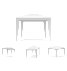 Folding white tent or canopy vector image