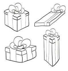 Gift box with ribbon and bow different forms vector
