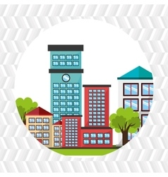 Residential icon design vector