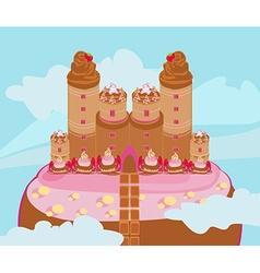 Castle with candy vector