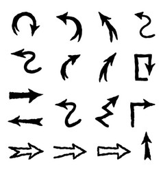 arrow doodle scribble set hand drawn sign vector image vector image