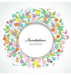 card flower8 vector image