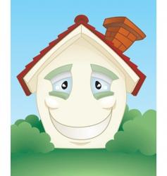 cartoon house icon vector image vector image