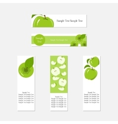 Design business banners with green apples for vector