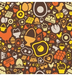 Egg seamless pattern vector