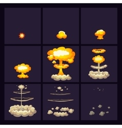 Explosion Effects Icons Set vector image