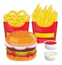 Fast food menu set vector image