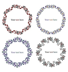 Floral decorative frames set vector image vector image