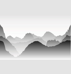 gray mountains in the fog seamless vector image vector image