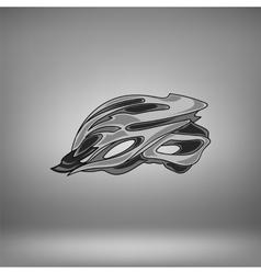 Grey bike helmet vector
