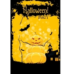 Grungy halloween party card vector