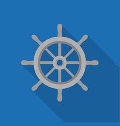 metal ship wheel icon vector image vector image