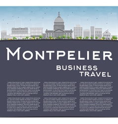 Montpelier Vermont city skyline vector image vector image