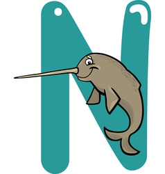 N for narwhal vector